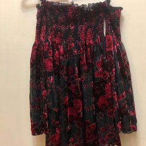 Betsy Johnson floral velvet dress